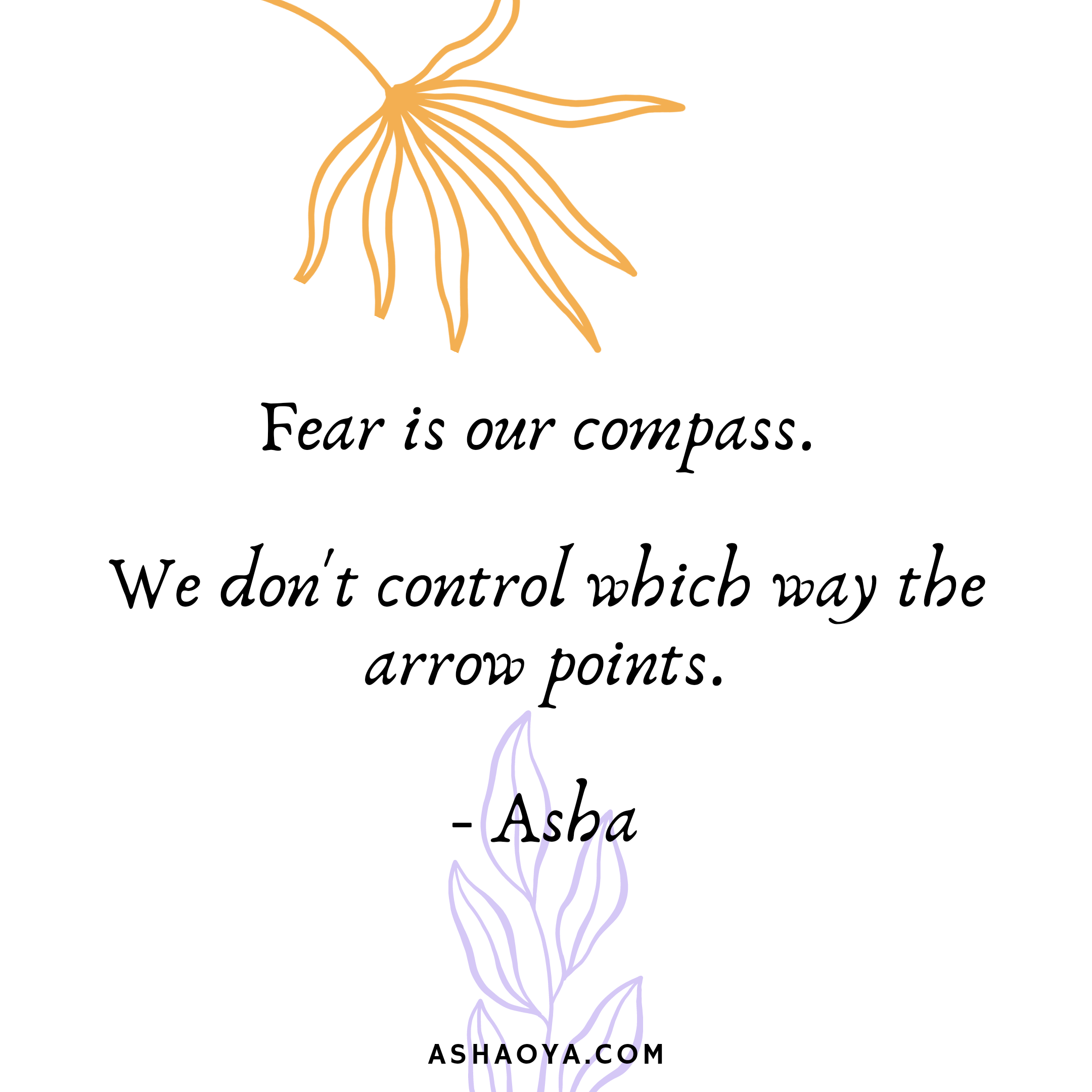 Fear is Our Compass
