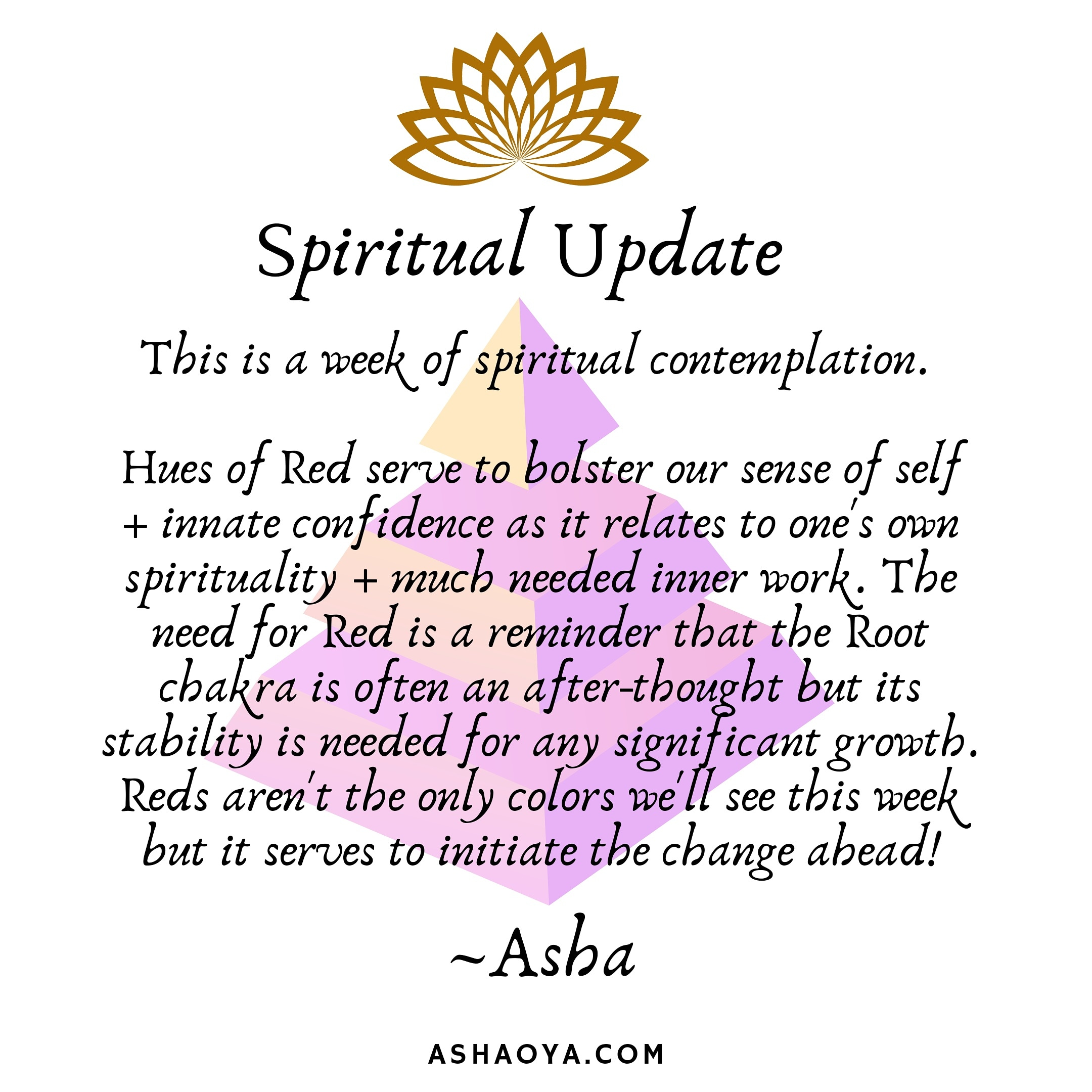 Spiritual Update: Spiritual Contemplation