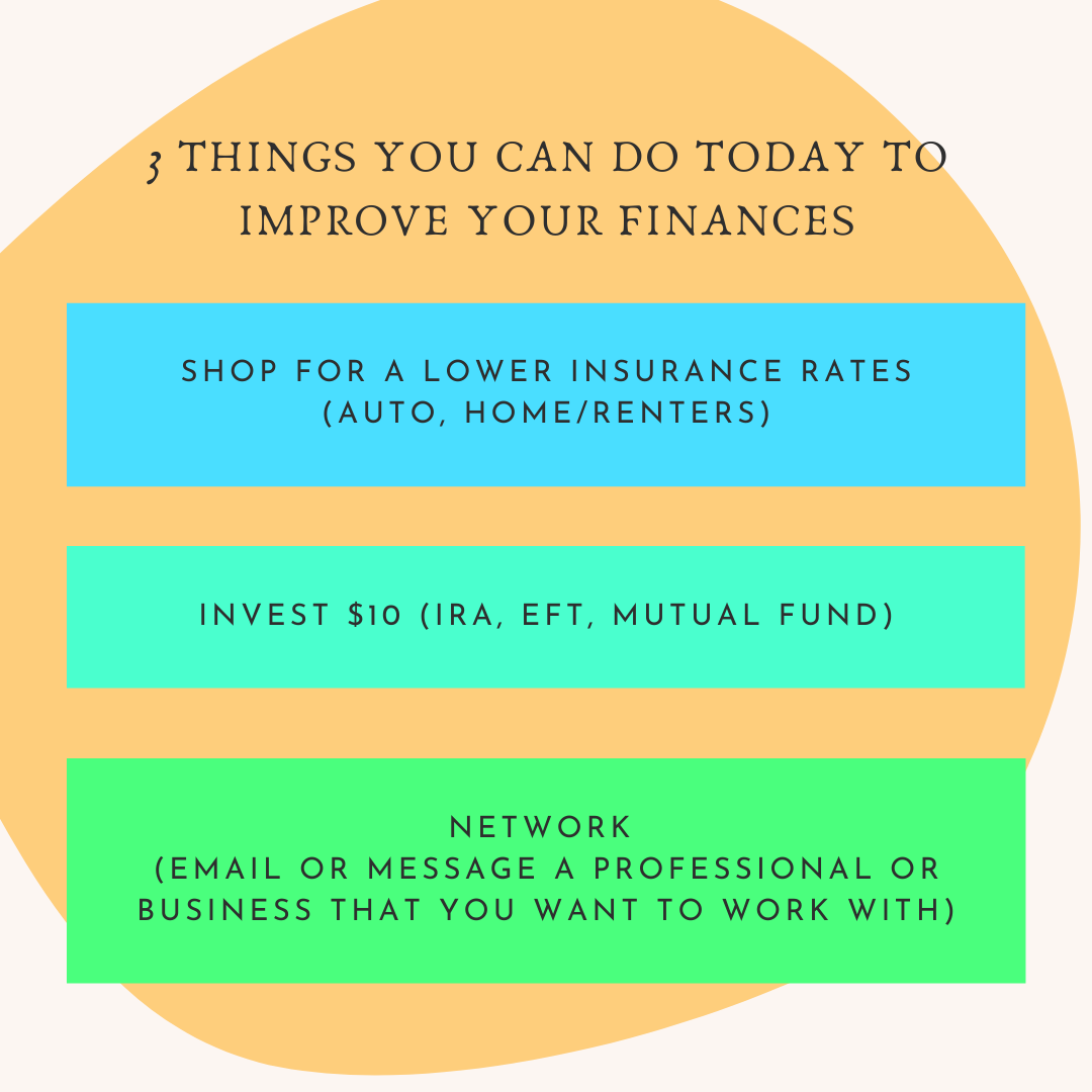 3 Things You Can Do Today to Improve Your Finances