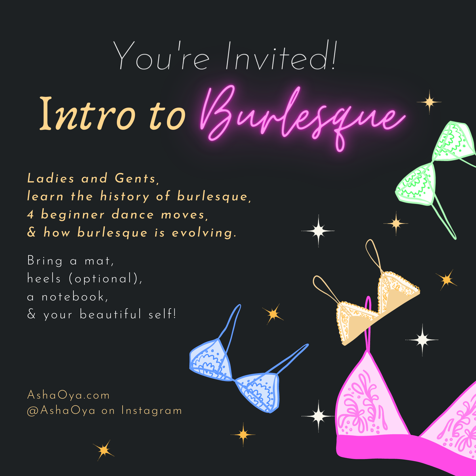 Intro to Burlesque is Back!