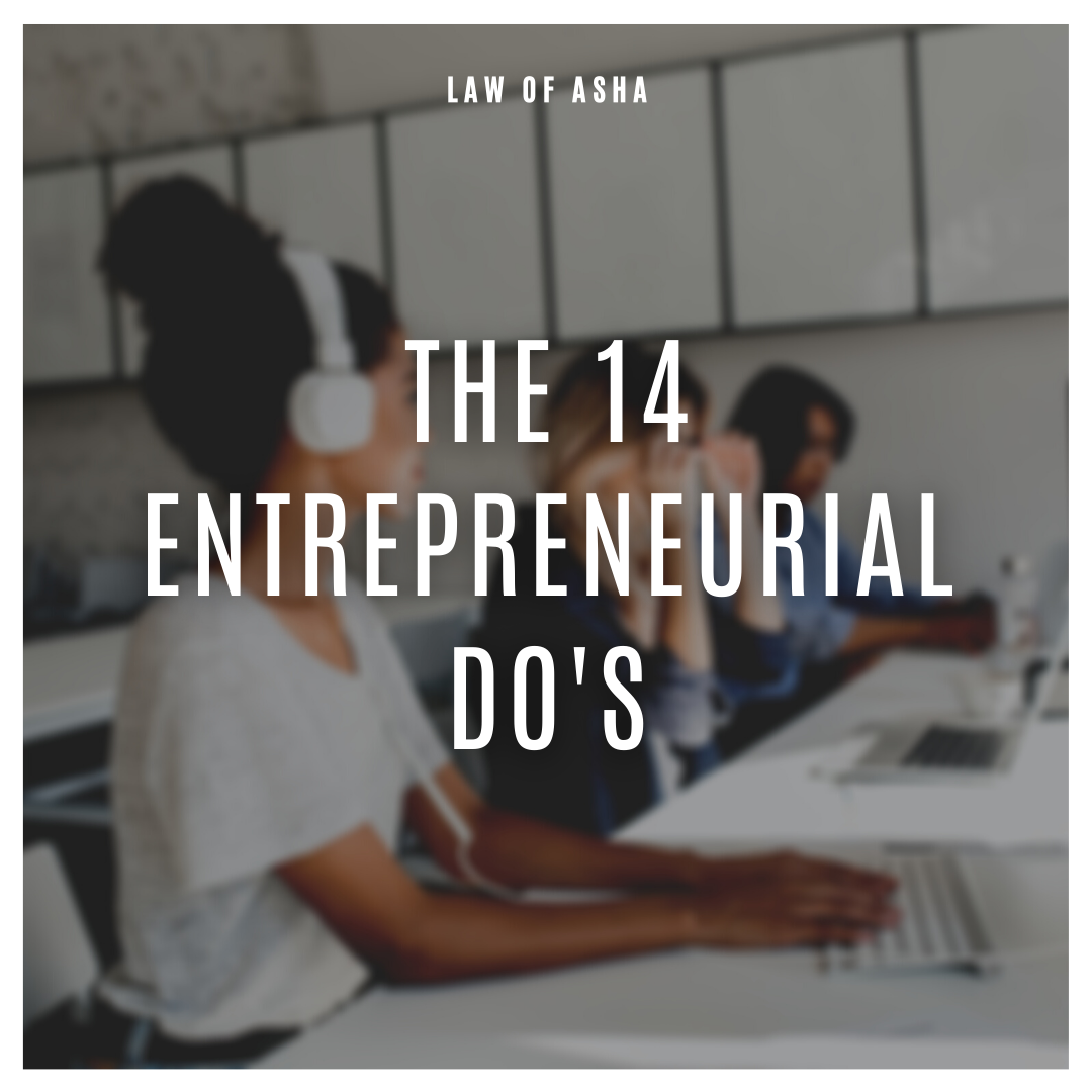 The 14 Entrepreneurial Do's